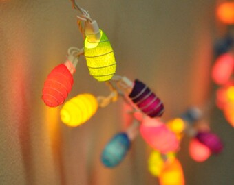 35 bulbs - Colorful Cocoon  string lights for Patio,Wedding,Party and Decoration
