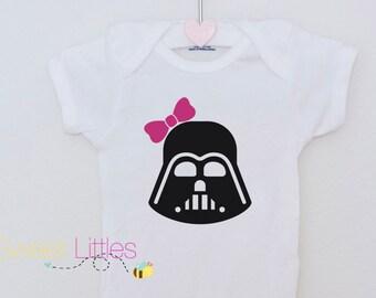 Star Wars Inspired Onesies/Darth Vador/Baby Girl/Star Wars Fanatic/Geek/Nerd/Cute/The Dark Side/Birthday Gift/Fan apparel/Movie/Classic