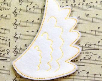 Wing Feltie Embroidery Design, wing feltie, angel feltie, machine embroidery, ITH, in the hoop, 4x4, wings embroidery, wings felt design
