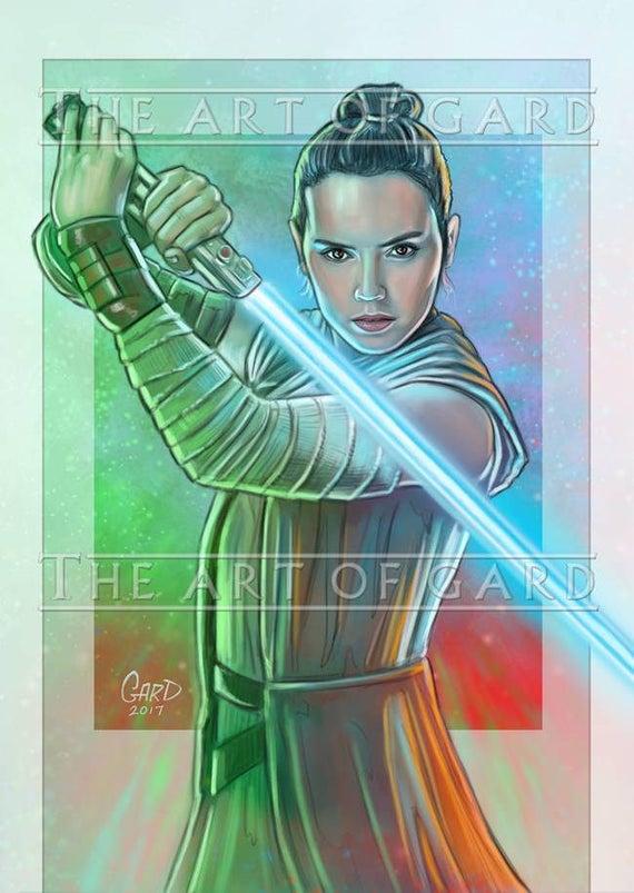Rey from The Last Jedi Art Print