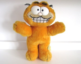 Vintage Garfield Soft Toy/Plush 1978 Retro Kids TV Cartoon/Comic