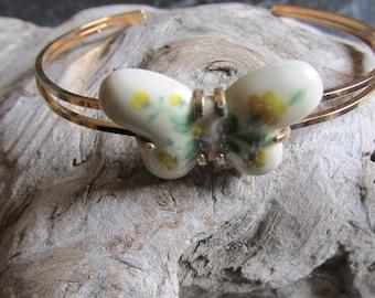 "Avon Fashion Accents Burst of Spring Butterfly Bracelet 6 3/4"""