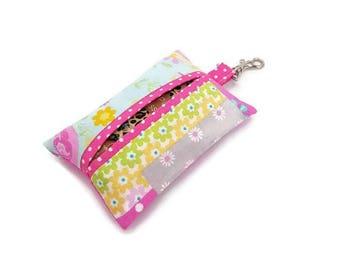 Tissue Holder, Travel Tissue Holder, Pocket Tissue Holder, Fabric Tissue Holder, Tissues Case, Teacher Gift Ideas, Gift for Young Girl, Gift