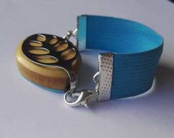 Bellabeat leaf bracelet Turquoise elastic strap bracelet to use with Bellabeat leaf, bellabeat anklet