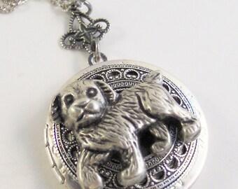 Doggie Love,Dog Necklace,Dog Jewelry,Dog Locket,Silver Dog,Pet Locekt,Pet Necklace,Puppy Necklace,Puppyn Jewelry,dog,valleygirldesigns