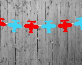Airplane Party Garland, Airplane Birthday Garland, Airplane Baby Shower, Airplane Banner, Airplane Photo Prop