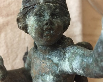 Antique French Cherub Statue