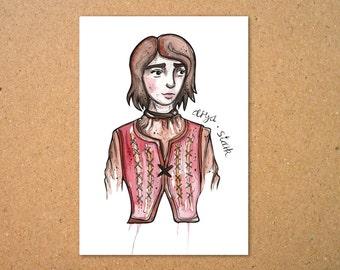 Original Arya Stark Illustration
