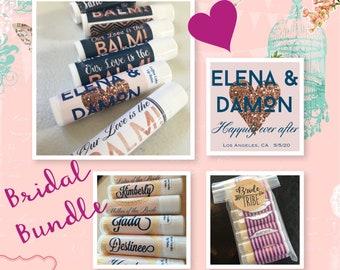 Wedding Bundle Lip Balm Favors and Bridesmaid Gift   Wedding lip balm, wedding favors, bridesmaid gifts, bundle deals, wedding chapstick