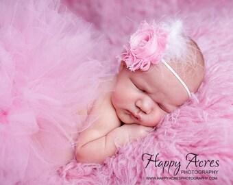 PINK PRINCESS tutu and headband..newborn tutu, baby tutu, newborn photography prop