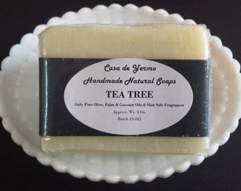 A Great Tea Tree Light Fragranced Bar made with only Pure Olive, Palm and Coconut Oils and Safe Fragrances. (Use Coupon Code CDY18)