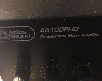 Atlas Sound AA100PHD 100W 4 Input Mixer Amplifier...free shipping !!
