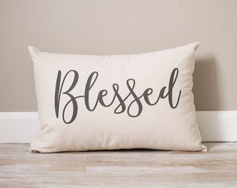 Blessed Pillow | Custom Pillow | Throw Pillow | Rustic Decor | Home Decor | Handmade Pillow | Personalized Pillow | Housewarming Gift