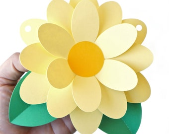 Paper Party Flower Template for Banners and Cupcake Toppers (SVG, DXF)