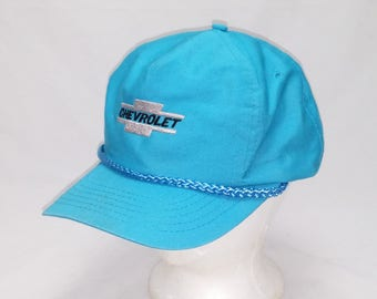 Vintage 1990s Trucker Ball Cap - CHEVROLET -  Hipster, Rockabilly, Chevy, Classic Cars, Accessories, Dad Hats