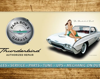 Custom Personalized 1963 Ford Thunderbird Banner 2ft x4ft