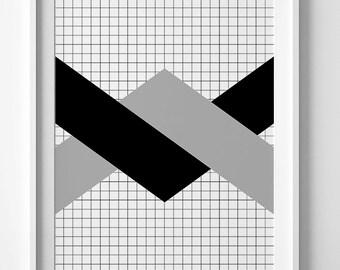 Geometric wall art print, Chevron print, geometric print, geometric printable, chevron poster, chevron printable wall art, geometric poster