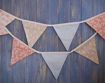 Classic Bunting. Floral Bunting // Shabby Chic Decor // Easter Bunting// Party Bunting // Handmade Bunting // Garlands//Bunny Bunting.