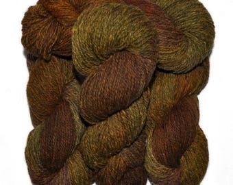 Hand dyed yarn - Alpaca / American wool yarn, Worsted weight, 240 yards - Axomamma