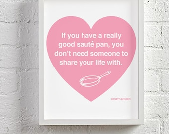 Sauté Pan Pink Digital Print