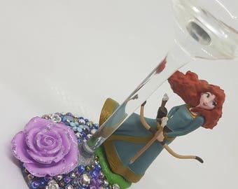 Personalised Disney Brave Wine Glass