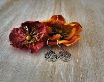 Gold or Silver Tree of Life Earrings - festival bohemian hippie boho