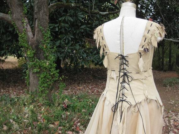 Leather Corset Wedding Dress 2 Piece Skirt Unique Wedding