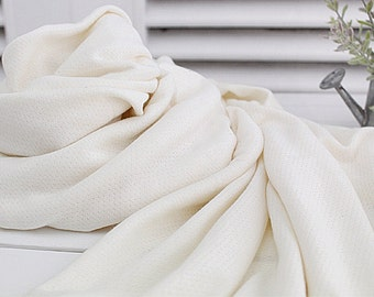 Bamboo Cotton Pointelle Knit Fabric By The Yard