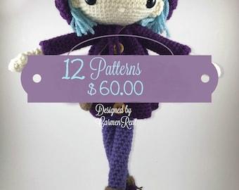 Amigurumi Bundle 12 Patterns- Amigurumi Dolls Patterns