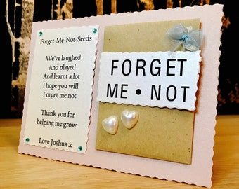 Forget Me Not Seeds, Forget Me Not Gift, Personalised Forget Me Not, Forget Me Not Thankyou Gift, Forget Me Not Seeds, Forget Me Not Seeds