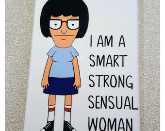 Strong woman quote refrigerator magnet comics illustration