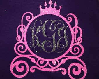 Princess carriage monogrammed shirt