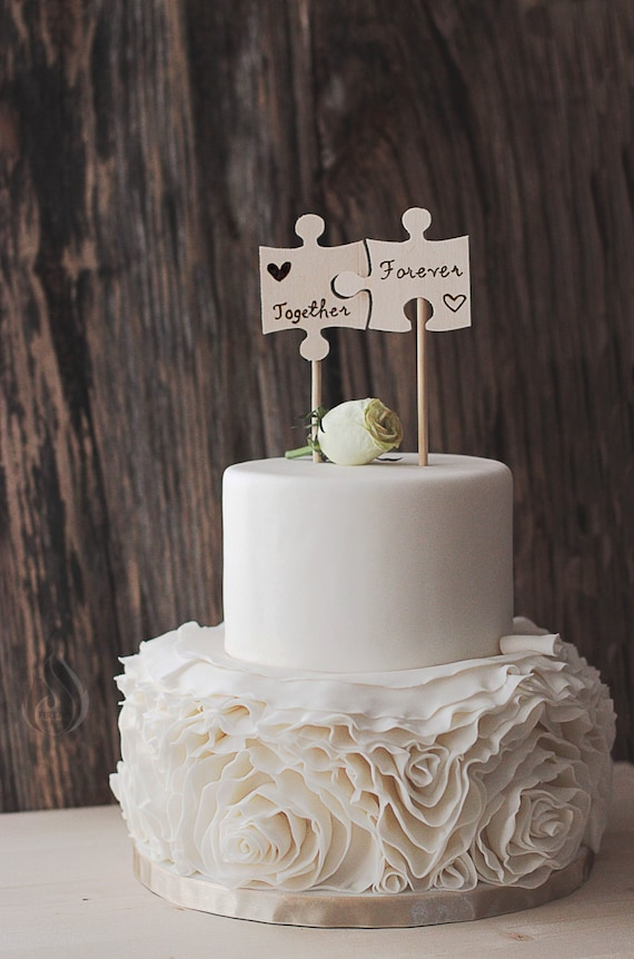 country wedding cake toppers australia rustic cake topper puzzle pieces woodsy cake woodsy 13005