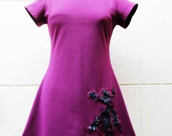 Pink Purple jersey dress