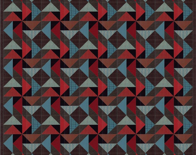 Night Winds a flying geese, star and pinwheel man quilt pdf pattern