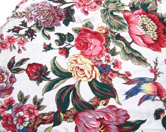 Floral Cotton Tablecloth 40-inch Round