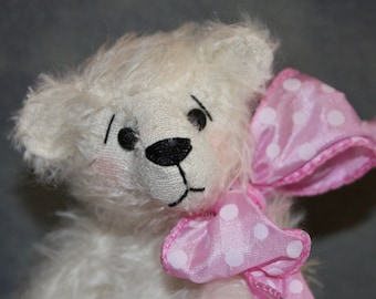 Complete White Mohair Teddy Bear kit and Pattern