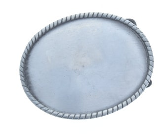 Belt Buckle in pewter Finish, Oval  Pewter Finish G321/P