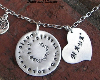 Hand stamped jewelry, handstamped jewelry, Custom stamped , Hand Stamped Necklace, personalized jewelry,  Personalized Jewelry, Mom Necklace