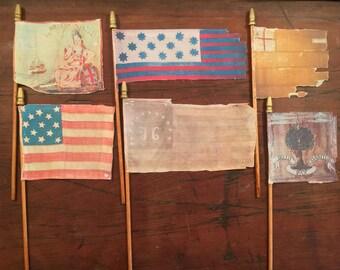 "Surviving Flag Series #10 of The American Revolution Era - THE WAR & BEYOND : Realistic Mini Desk Flag 4""x 6""  9.99 Each Flag"