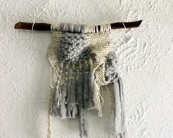 Macrame Merino Wool Wall Hanging, Fiber Art, Macrame Wall Tapestry, Wall Art, Wall Tapestry, Modern Macrame