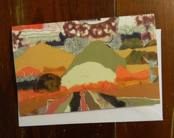 Sunrise blank greeting card with envelope