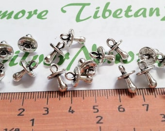 24 pcs per pack 13x8mm Baby pacifier Charm Antique Silver lead free Pewter