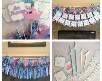 Cinderella Party Decorations - Cinderella Party Package - Party for Princess Party - Cinderella Birthday Party - Princess Party Decor