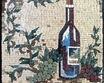 Mosaic Patterns- Bottiglie di vino