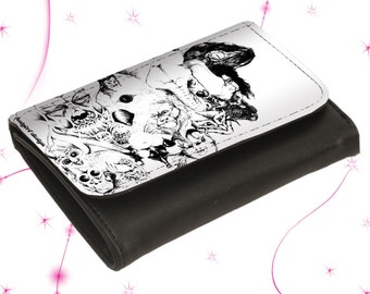 "Leather wallet purse ""Symbiosis"""