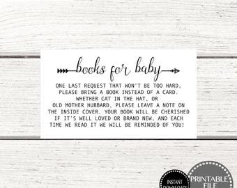 Printable Baby Shower Games, Books for Baby Insert, Printable Books for Baby, Book Cards, Books for Baby Instant Download, Baby Shower Books