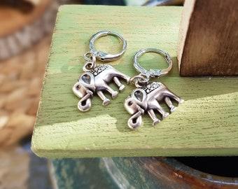 Elephant earrings, Summer earrings, Boho earrings, Cactus earrings, Earrings for women, Silver plated earring, Gold earrings, hypoallergenic