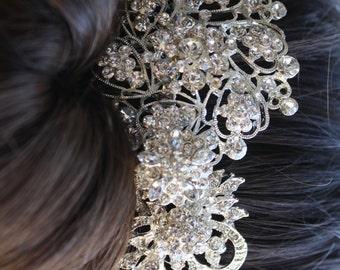 Tiaras boda/novia peine del pelo - pelo nupcial peine - accesorios Wedding del pelo - Rhinestone pelo peine - peine de cristal boda - novia