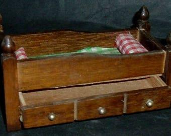 VINTAGE TRUNDLE BED - 1950'S